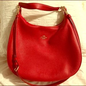 Coach satchel purse -red